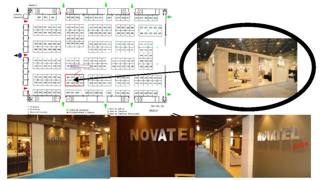 Ubicación Novatel Sofás en Surmueble 2017